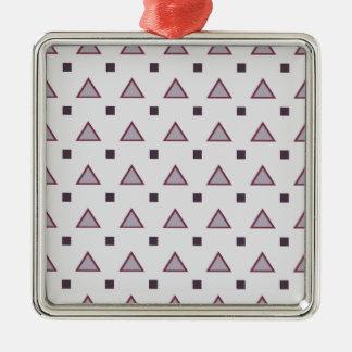 Modelo geométrico, diseño púrpura del triángulo adorno cuadrado plateado