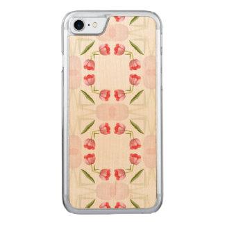 Modelo geométrico floral del caleidoscopio del funda para iPhone 8/7 de carved