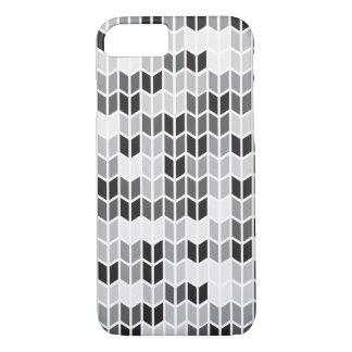 Modelo geométrico gris funda iPhone 7