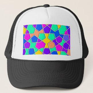 modelo geométrico islámico gorra de camionero