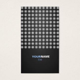 Modelo geométrico moderno tarjeta de negocios