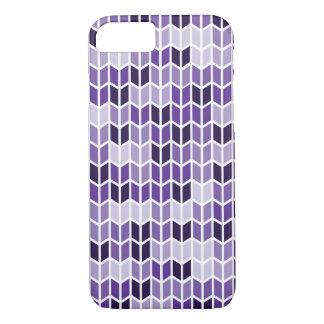 Modelo geométrico púrpura funda iPhone 7