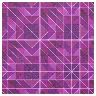 Modelo geométrico púrpura tela