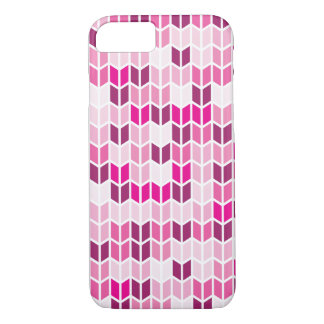 Modelo geométrico rosado funda iPhone 7