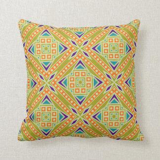 Modelo geométrico tribal azteca moderno colorido cojín decorativo