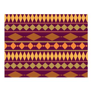Modelo geométrico tribal del moho magenta postal