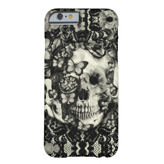 Modelo gótico del cráneo del cordón del Victorian Funda Para iPhone 6 Barely There