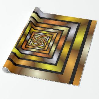 Modelo gráfico colorido del fractal del túnel papel de regalo