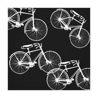 Modelo gráfico del desfile de la bicicleta en impresión en lienzo