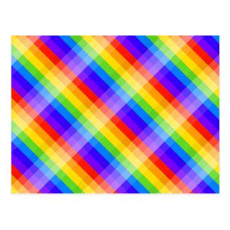 Modelo gráfico en colores del arco iris postal