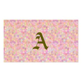 Modelo gráfico, pasteles rosados, femenino, de tarjetas de visita