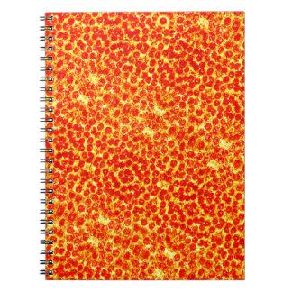 Modelo grande de la pizza cuaderno