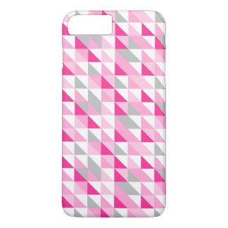 Modelo gris blanco rosado geométrico de los funda iPhone 7 plus