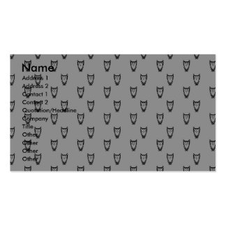 Modelo gris del búho tarjetas de visita