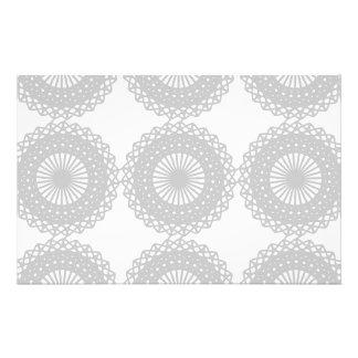 Modelo gris del diseño del cordón folleto 14 x 21,6 cm