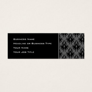 Modelo gris negro y profundo del damasco tarjeta de visita pequeña