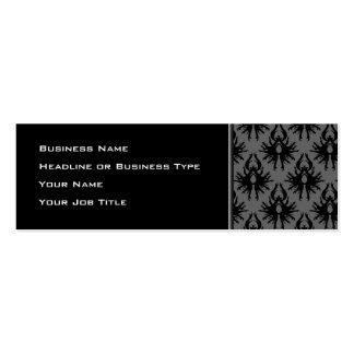 Modelo gris negro y profundo del damasco tarjetas de visita mini