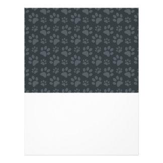 Modelo gris oscuro de la impresión de la pata del tarjetas informativas