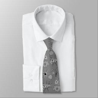 Modelo gris retro del cómic corbata personalizada