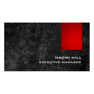 Modelo gris rojo elegante de moda moderno tarjetas de visita