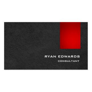Modelo gris rojo elegante sofisticado moderno tarjetas de visita