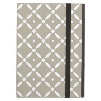 Modelo gris y blanco de Quatrefoil Funda Para iPad Air