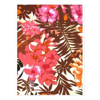Modelo hawaiano abstracto postal