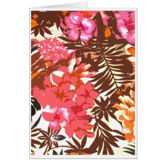 Modelo hawaiano abstracto tarjeta de felicitación