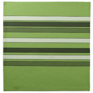 Modelo horizontal verde de las rayas del verdor servilleta de tela