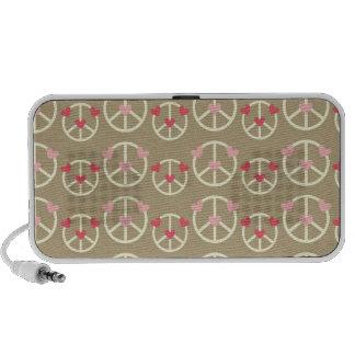 modelo II de la paz y del amor Altavoz De Viajar