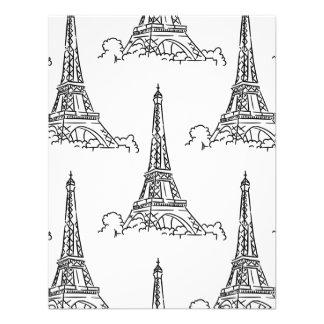 Modelo ilustrado de la torre Eiffel