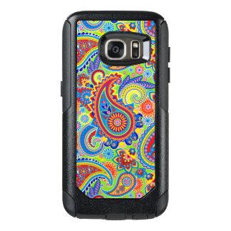 Modelo inconsútil colorido de Paisley Funda Otterbox Para Samsung Galaxy S7