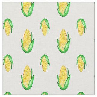 Modelo inconsútil de la acuarela del maíz telas