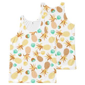Modelo inconsútil de las frutas por todo las camiseta de tirantes con estampado integral