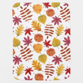 Modelo inconsútil de las hojas de otoño manta de bebé