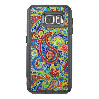 Modelo inconsútil de Paisley del vintage colorido Funda OtterBox Para Samsung Galaxy S6