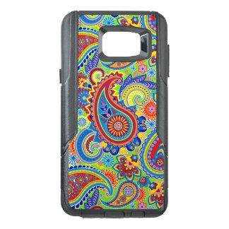 Modelo inconsútil retro colorido de Paisley Funda OtterBox Para Samsung Note 5