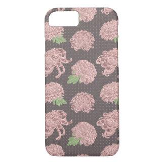 Modelo inconsútil rosado suave de Chrysantemum Funda Para iPhone 8/7