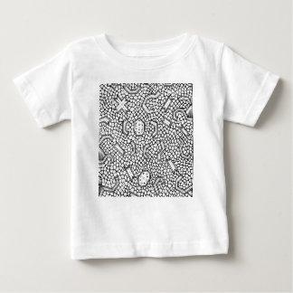 Modelo indonesio celular de la materia textil camiseta de bebé