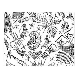 Modelo indonesio de la materia textil de los postal