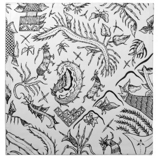 Modelo indonesio de la materia textil de los servilleta de tela