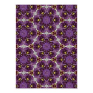 Modelo inspirado violeta comunicado personalizado