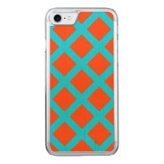 Modelo intrépido de los cuadrados del naranja y de funda para iPhone 7