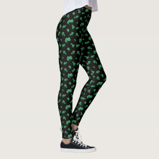 Modelo irlandés verde del trébol de la pendiente leggings
