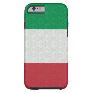 Modelo italiano del damasco de la bandera funda de iPhone 6 tough