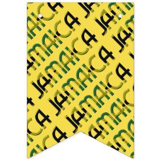 Modelo jamaicano de la tipografía de la bandera