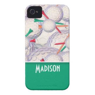 Modelo lindo de las pelotas de golf y de las camis iPhone 4 Case-Mate protector