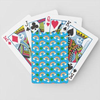Modelo lindo de los tréboles de los arco iris del  baraja de cartas
