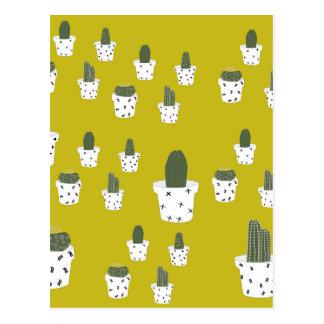 Modelo lindo del cactus postal