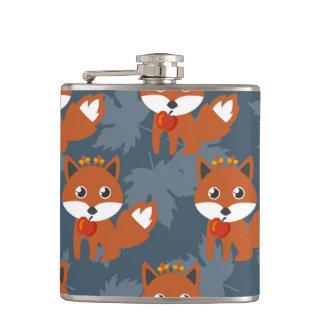 Modelo lindo del Fox del otoño Petaca